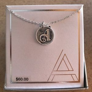 "Jewelry - Fine silver plated ""A"" initial necklace"
